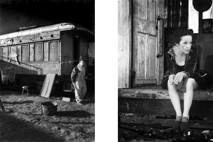 Ojos-de-Madera,-Circus,-Gypsie-Woman