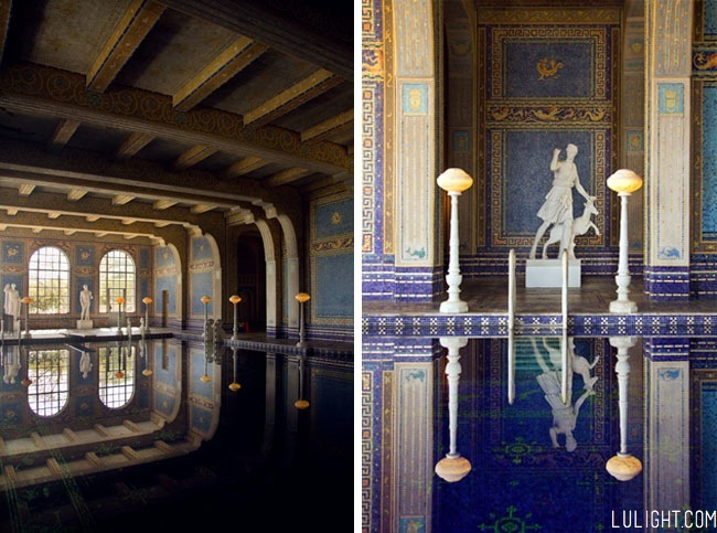 Hearst castle pictures, pool, lulight