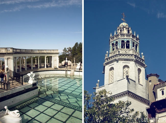 Hearst castle pictures, Neptune pool, lulight